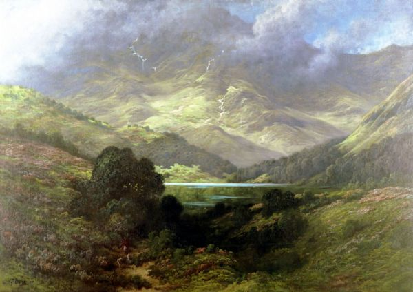 Dore, Gustave: Scottish Highlands. Fine Art Print/Poster. Sizes: A4/A3/A2/A1 (002629)